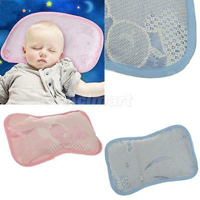 Newborn Baby Bed Cot Sleeping Pillow Ice Silk Fabric Infant Support Cushion Pad