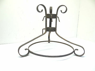 """Vintage Used Old Metal Wrought Iron Decorative 16"""" Christmas Tree Stand"""