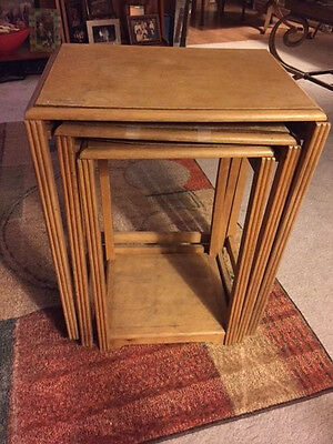 Lot 3 Vintage Nesting Tables in rough shape, needing repair