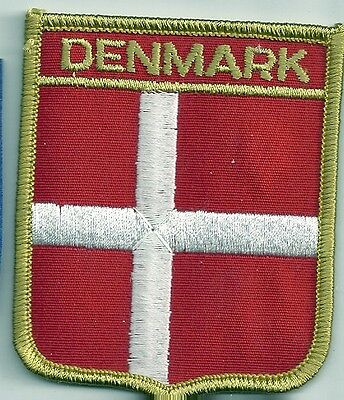 Souvenir Patch Of The Country Of Denmark