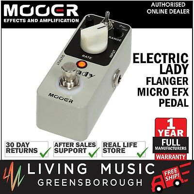 NEW Mooer ElecLady Analog Flanger Micro Electric Guitar Effects Pedal FREE SHIP