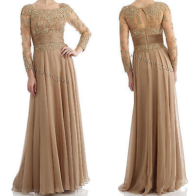 Mother of the Wedding Gown Bride Dress Lace Formal Evening Party Prom Custom All