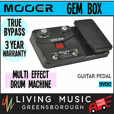 NEW Mooer Multi Effects Electric Guitar Unit with Expression Pedal and Drum Mach
