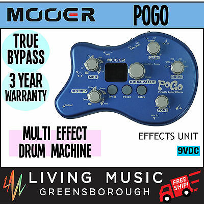 NEW Mooer Multi Effects Unit for Electric Guitar with Drum Machine FREE SHIP