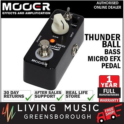 NEW Mooer Thunderball Bass Fuzz Distortion Micro Electric Guitar Pedal