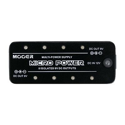 NEW Mooer 9V Micro Power Electric Guitar Effects Pedal Power Supply Adaptor