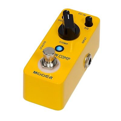 New Mooer Yellow Comp Compressor Micro Electric Guitar Effects Pedal True Bypass