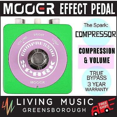 NEW Mooer Spark Compressor Electric Guitar Effects Pedal True Bypass FREE SHIP