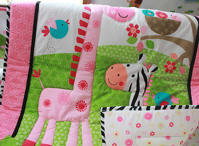 NEW Baby Cot Bedding Sets 7 PCs - Quilt Bumper Fitted Sheet 111-4