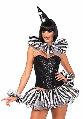Leg Avenue 3743 Harlequin Kit Costume (Black/White;One Size)