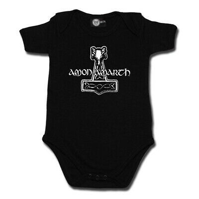 Amon Amarth Thor Hammer Baby One Piece Bodysuit Infant Romper Official Size 0-18