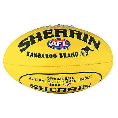 SHERRIN AFL Soft Touch Youth Yellow Football VFL Ball
