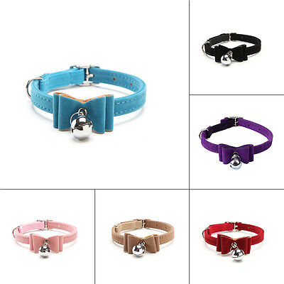 Fiber Adjustable Pet Collars with Bells Bow Tie Necklace for Small Pet Dog Cat