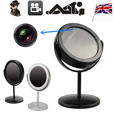 UK Mini Mirror Motion Detection Spy Video Camera Hidden DVR Cam Camcorder