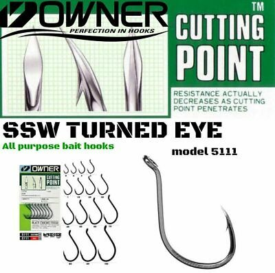 OWNER CUTTING POINT SSW TURNED EYE OCTOPUS BAIT HOOKS model 5111