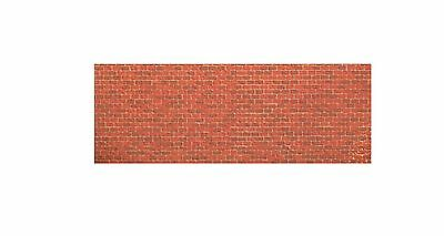 196Mm X 55Mm X 1Mm N Gauge Brick Wall Treated Paper Bumpy Sheets Embossed 3D