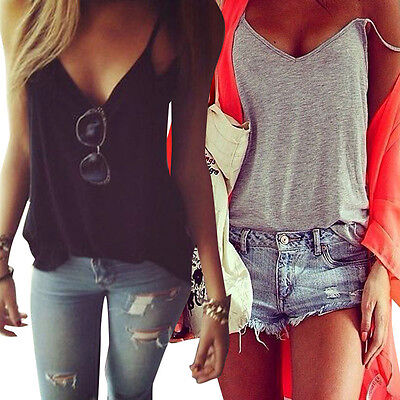 Fashion Women's Summer Vest Tops Sleeveless Shirt Blouse Casual Tank Top T-Shirt