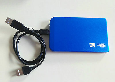 "blue New 250 GB external Portable 2.5"" USB 2.0 hard Drive HDD POCKET SIZE"