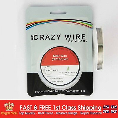 0.13mm (36 AWG) - Ni80 - Nickel Chrome 80/20 Soft Heating Wire - 85.4 ohms/m