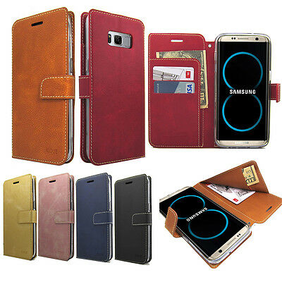Dual Flip Wallet Leather Case Money Clip Card Cover For iPhone 7 Galaxy S Note 9