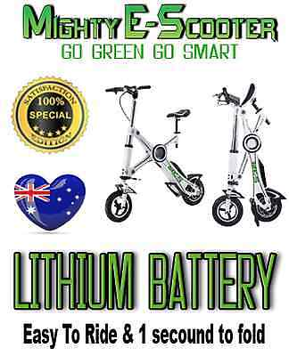 NEW Lithium Battery PORTABLE FOLDING Electric Bike Scooter Ebike Alarm Remote