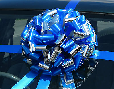 Big Giant Car/Large Bike Gift Bow in SHINY METALLIC MIX + SUPERFAST DISPATCH!!