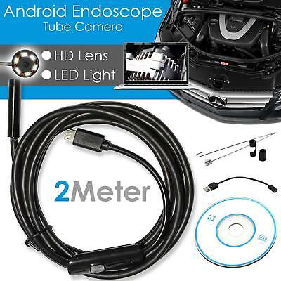 New Endoscope 5.5mm 6LED IP67 Waterproof Borescope Inspection Camera For Android