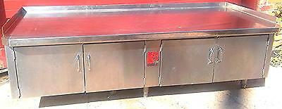 WOLF COMMERCIAL KITCHEN CABINET PREP TABLE 78Wx34Dx25H Counter Top w Backsplash