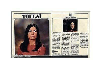 1968 : Doc/clipping (Ref JF 15) : CHANSON : TOULAI 2pages