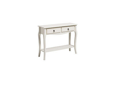 Sorrento Traditional Ivory Console Table 2 Drawers 1 Shelf Hallway Living Room