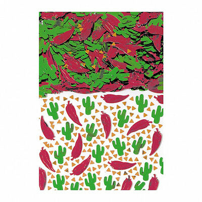 Mexican Fiesta Party Table Decorations Red Chili Green Cactus Table Confetti