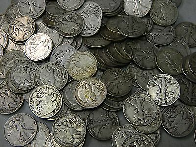 RANDOM DATE Walking Liberty Half Dollar 90% Silver Coin,Lot from Collection