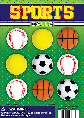 "New bag of 100 Count A&A Global 1.1"" Sports Balls Toy Vending Bulk Free Shipping"