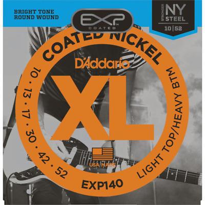 D'Addario EXP140 Light Top / Heavy Bottom Electric Guitar Strings 010 - 052
