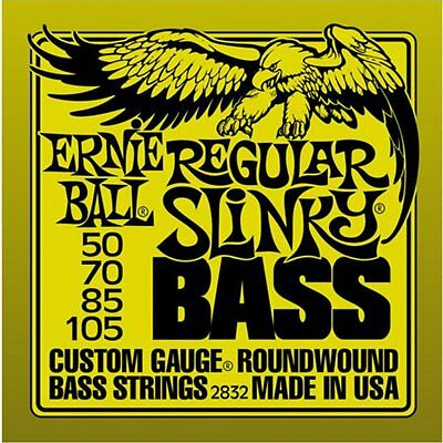 1 Set of Ernie Ball Regular Slinky Nickel Roundwound Bass Guitar Strings