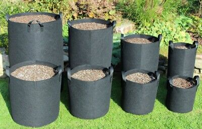 Round fabric pots with handles Smart root pouch pot Felt grow bag Aeration bags