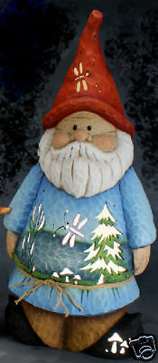Ceramic Bisque Ready to Paint Gnome with clip in light/bulb~BRAND NEW~