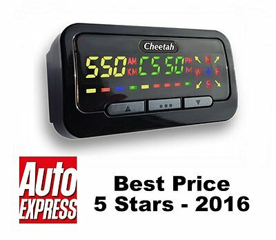Cheetah C550 Gps Speed Camera Detector, Speed Trap, Red Light Camera
