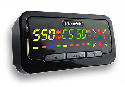 Cheetah C550 Gps Speed Camera Detector, Speed Trap, Red Light Camera (Black)