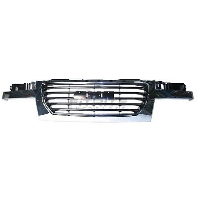 New Front Grille Chrome Frame W/ Black Center For 2004-2012 Gmc Canyon Gm1200530
