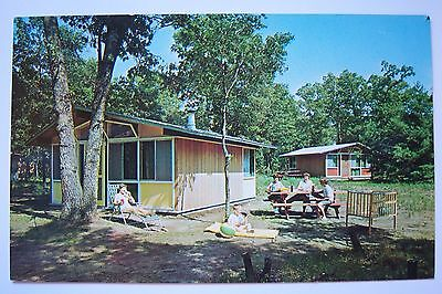 Vintage OWASIPPE SCOUT RESERVATION, Michigan postcard, Owasippe's Family Camp