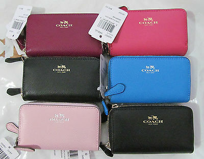 Coach Small Double Zip Coin Case Wallet F63921 - NWT