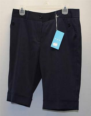 New Womens Size 8 AUR Active polyester spandex golf shorts Navy