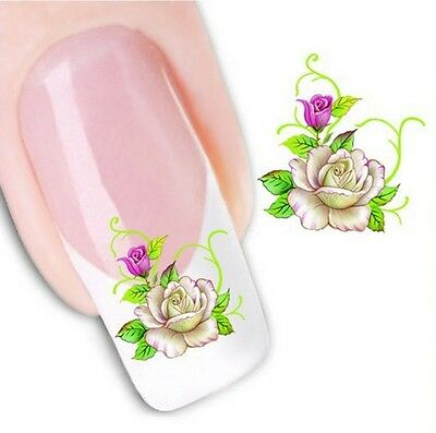 Nail Art Sticker Water Decals Transfer Stickers Flowers Floral (XF1050)