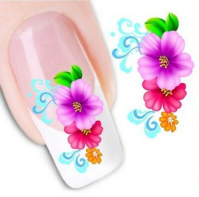 Nail Art Sticker Water Decals Transfer Stickers Flowers Floral (DX1066)
