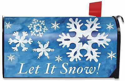 Let it Snow! Winter Magnetic Mailbox Cover Snowflakes Standard