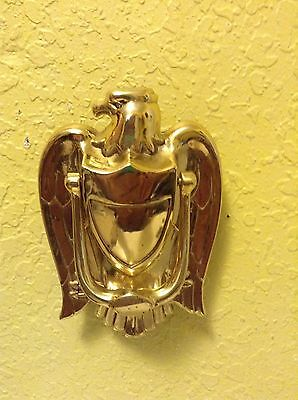 Solid Brass American Eagle Knocker 6""