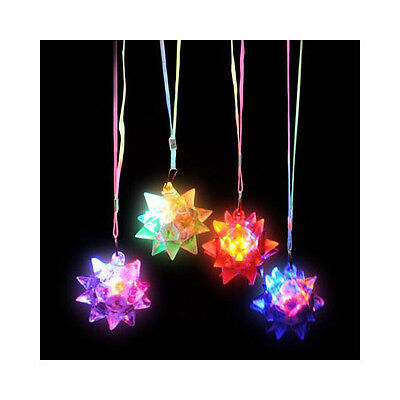 Flashing LED Star Ball Necklaces (12 Pack) Light Up Party Necklace 1 Dozen