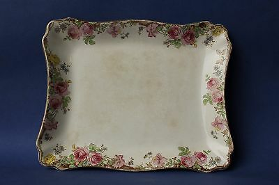 Vintage 1930's, Royal Doulton English Rose, cake, bread plate, serving plate.