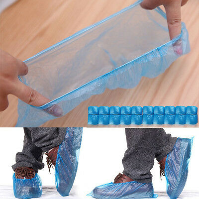 """50 pairs Disposable Shoe Covers 15.3x6"""" For Medical Lab Safety HIGH QUALITY"""